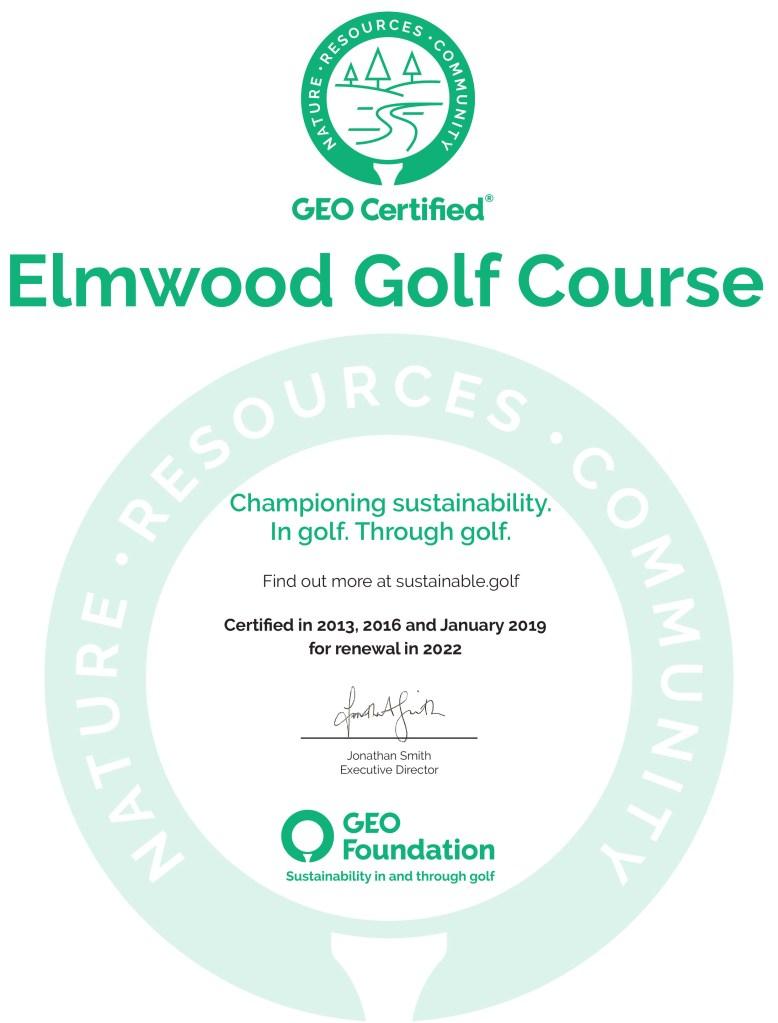 Elmwood third cert 2019